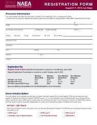 REGISTRATION FORM - National Association of Enrolled Agents