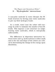 6 – 'Hydrophobic' interactions - IFM