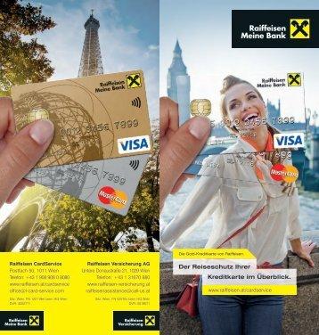 Versicherungsfolder für Kreditkarten (pdf) - Raiffeisen CardService