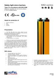 Safety light micro barriers - Elektro-Trading sp. z oo