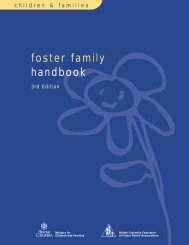 Foster Family Handbook - Ministry of Children and Family ...