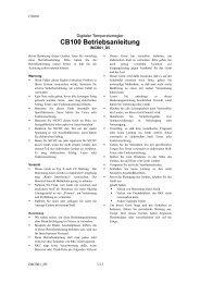 CB100 Bedienungsanleitung