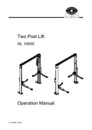 Two Post Lift Operation Manual - aesco