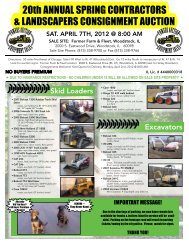 20th ANNUAL SPRING CONTRACTORS & LANDSCAPERS ...