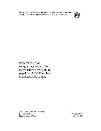Protección de los refugiados y migración internacional ... - Acnur