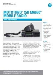 MOTOTRBO XiR M6660 mobile radios - Motorola Solutions
