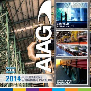 Download Training Catalog - Automotive Industry Action Group