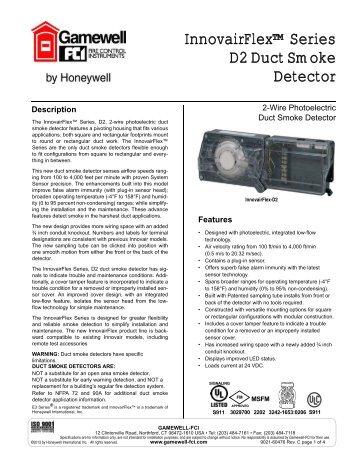 InnovairFlex™ Series D2 Duct Smoke Detector - Gamewell-FCI