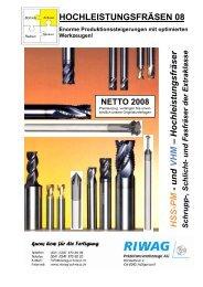 Hochleistungsfräser - Riwag Präzisionswerkzeuge AG