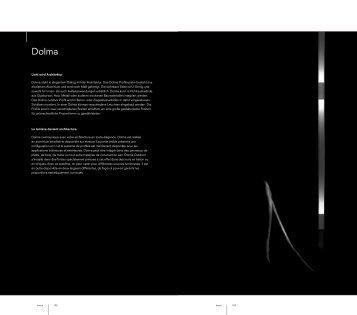 Licht wird Architektur Dolma steht in elegantem Dialog mit ... - Kreon