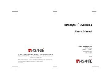 FriendlyNET USB Hub-4 - Asante