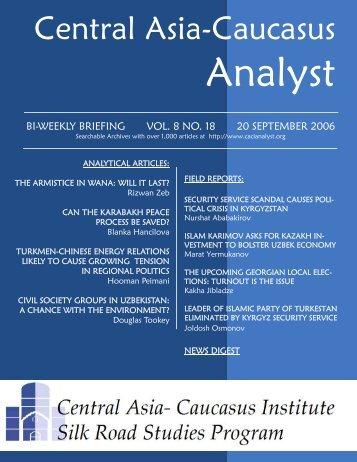 Nurshat Ababakirov - The Central Asia-Caucasus Analyst