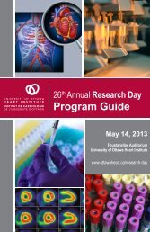 Presentation Program and Schedule - University of Ottawa Heart ...
