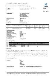 GUTACHTEN zur ABE Nr. 47158 nach §22 StVZO Anlage 2 zum ...