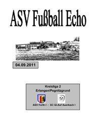 Fußball Echo 04.09.11 - ASV Forth