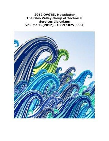 2012 OVGTSL Newsletter The Ohio Valley Group of Technical ...