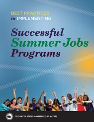 In IMPLEMENTING Successful Summer Jobs - U.S. Conference of ...