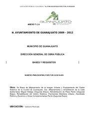 H. AYUNTAMIENTO DE GUANAJUATO 2009 - 2012