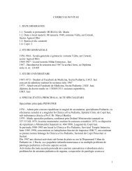 1 CURRICULUM VITAE 1. DATE BIOGRAFICE 1.1 ... - Spital Moinesti