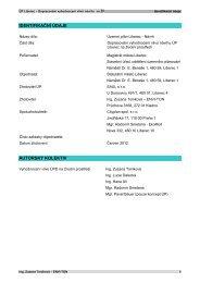 Vyhodnocení vlivů návrhu ÚP Liberec na životní prostředí