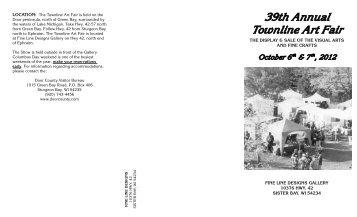 39th Annual Townline Art Fair - Fine Line Designs Gallery