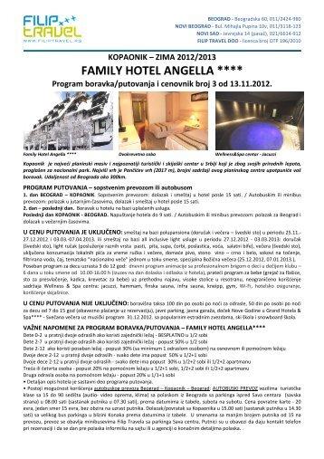Family Hotel Angella - Zima 2013 - cenovnik br.3 - Filip Travel