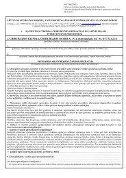 2. CHIRURGIJOS KLINIKA, CHIRURGIJOS SKYRIUS, IV a. gydytojų ...