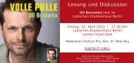 Informationen zur Veranstaltung - Jüdisches Krankenhaus Berlin