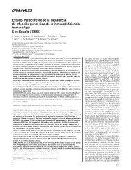 Estudio multicéntrico de la prevalencia de infección por ... - Sida Studi
