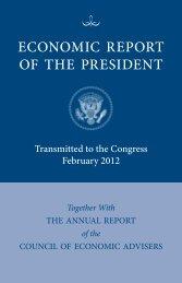 ECONOMIC REPORT OF THE PRESIDENT - National Bureau of ...