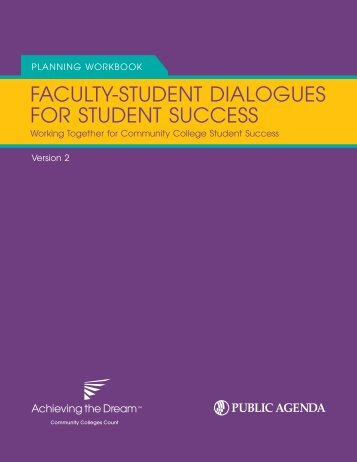 Faculty-StuDent DialogueS For StuDent SucceSS - Public Agenda