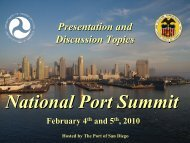 Presentation and Discussion Topics - Maritime Administration