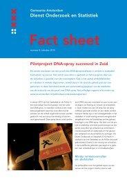 Pilotproject DNA-spray succesvol in Zuid - Onderzoek en Statistiek ...