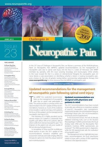 Downloadable PDF - Multidisciplinary Panel on Neuropathic Pain