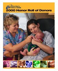 2000 Honor Roll of Donors - Central Maine Medical Center