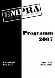 Programm 2007 - Friedrich-Schiller-Universität Jena