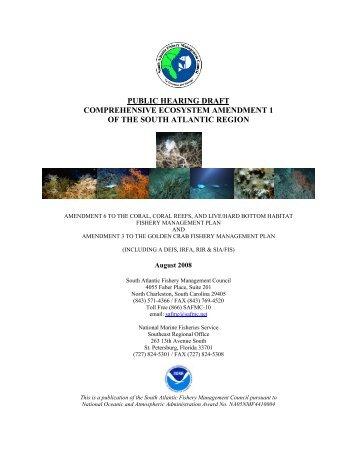 Draft Comprehensive Ecosystem Amendment I - SAFMC.net