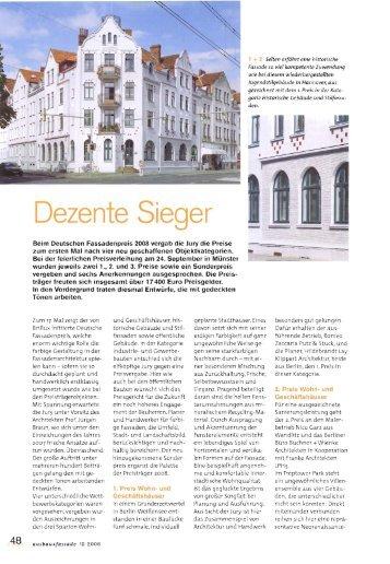 Dezente Sieger - Deutscher Fassadenpreis