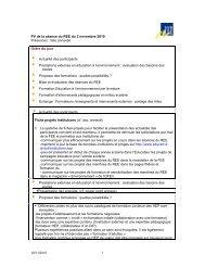 PV de la rencontre - Education à l'environnement en Suisse