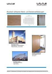 Akustisch wirksame Wand- und ... - lang-formholz.de