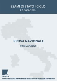 Rapporto Prova nazionale 2009/2010 - Invalsi