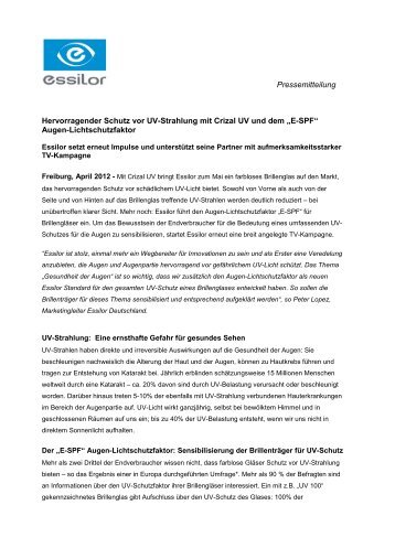 dad1f59d6d0 Pressemeldung Kundenbindung - Essilor GmbH