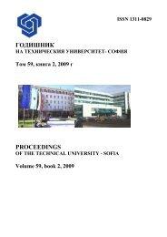 Volume 59 Issue 2 (2009) - Годишник на ТУ - София