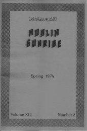 1974 - The Muslim Sunrise
