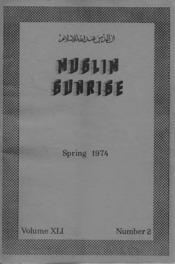1974 - The Muslim Sunrise