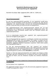 Gesetzliche Bestimmungen bei der Neuverpachtung der Jagdgebiete