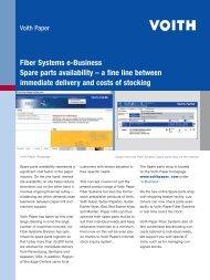 Fiber Systems e-Business Spare parts availability – a fine line - Voith