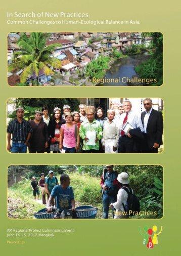 API Regional Project Culminating Event : Proceedings