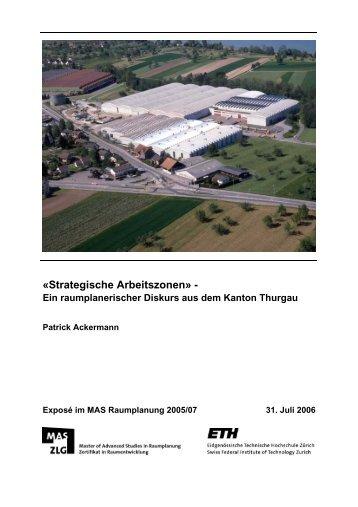 """""""Strategische Arbeitszonen"""" - Ein raumplanerischer ... - vlp-aspan"""