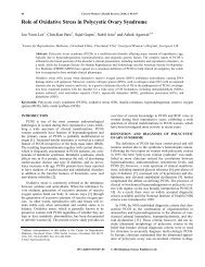 Role of Oxidative Stress in Polycystic Ovary ... - IngentaConnect